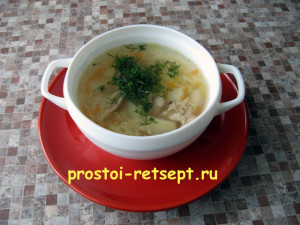 как варить куриный суп
