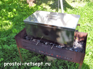 как коптить рыбу: ставим коптильню над углями