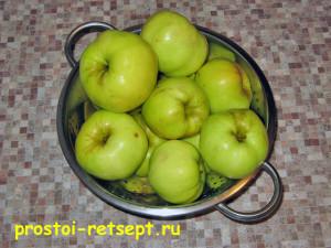варенье из брусники с яблоками:вымыть яблоки