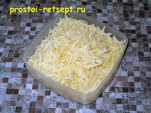 мясной салат в тарталетках: сыр натереть на терке