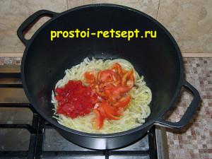 Как готовить лагман: добавить перец и помидор