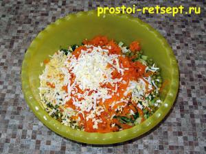 Рецепт салата Оливье: смешать все ингредиенты и добавить майонез