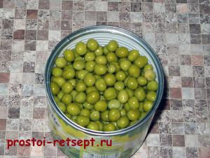 Рецепт салата Оливье: из банки горошка слить жидкость