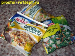 Суп из замороженных овощей: замороженные супы в пакетах