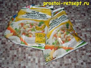 Суп из замороженных овощей: достать овощи из морозилки
