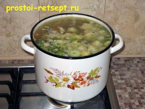 Суп из замороженных овощей: варить 30-40 минут с момента закипания