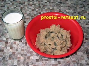 блюдо из фарша: хлеб поломать и залить молоком