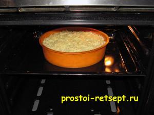 пирог с курицей и грибами: поставить в духовку на 20 минут