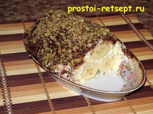 творожный десерт: разрезаем на порции