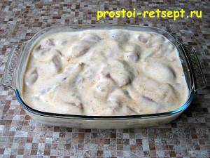 курица в кефире: выложить курицу в форму для запекания