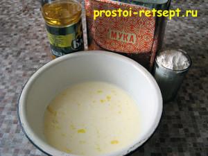 Тонкие блины на молоке: добавить растительное масло и муку