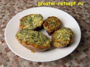 картофель в духовке с чесноком и укропом готов