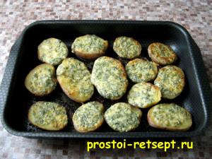 картофель в духовке: сыр должен расплавиться и подрумяниться