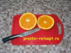 Курица с апельсинами: отжать сок из одного апельсина