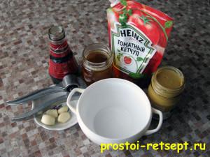 Куриные ножки: ингредиенты для соуса