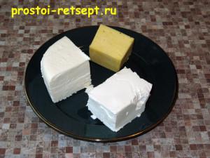 Хачапури с сыром: в начинку кладем сыр трех видов