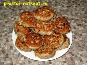 Котлеты из индейки готовые на блюде
