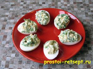 Фаршированные яйца простая холодная закуска