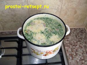 Рецепт супа с фрикадельками: добавить зелень и варить 3 минуты