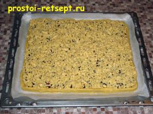 тертый пирог: тесто на верхний слой натираем на терке
