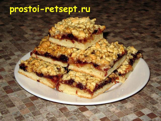 Рецепт пирог с натертым тестом