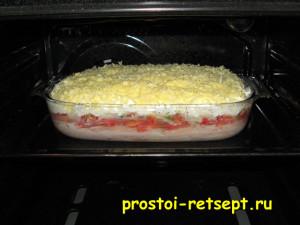 Овощная запеканка: духовку разогреть до 200 градусов