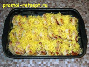 рецепт тефтелей: посыпать тертым сыром