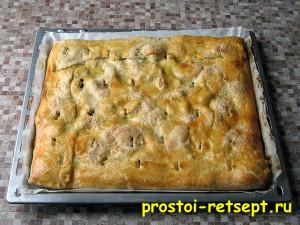 рецепт яблочного пирога: готовность определяем по цвету