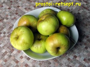 рецепт яблочного пирога: яблоки вымыть и вытереть