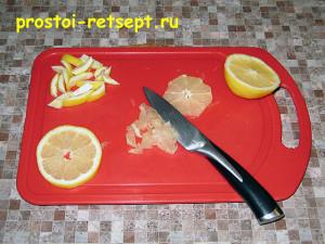 соус для морепродуктов: мякоть лимона мелко нарезать