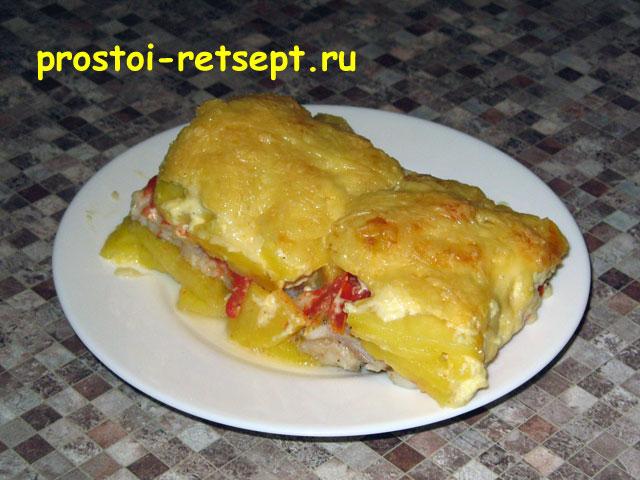 картошка с рыбой в духовке рецепт с фото
