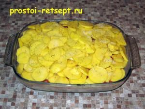 рыба с картошкой в духовке: выложить остальную картошку