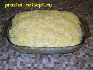 рыба с картошкой в духовке: посыпать тертым сыром