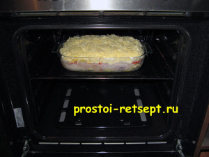 рыба с картошкой в духовке: поставить в духовку