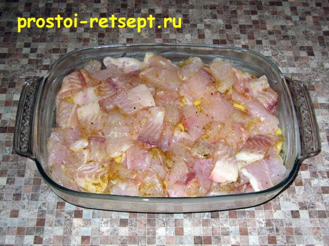 картошка с филе рыбы в духовке рецепт с фото