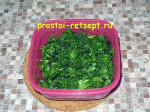 харчо из говядины: зелень мелко нарезать