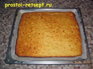 апельсиновый пирог: выпекать до золотистой корочки 20 минут