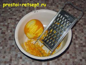 апельсиновый пирог: натереть цедру апельсина