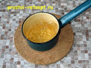 творожный чизкейк: желатин отжать и растопить