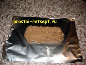 Паштет из куриной печени: выложить на лист фольги