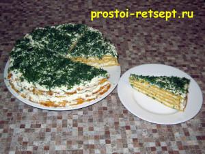 Сырный пирог похож на торт