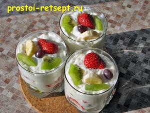 Десерт из творога: поставить в холодильник на 1 час