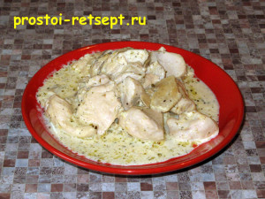 Курица в сливочном соусе мягкая и ароматная
