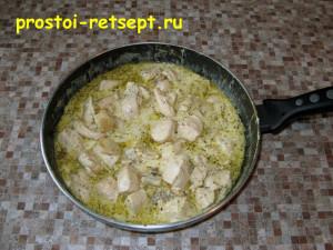 Курица в сливочном соусе: подавать с гарниром