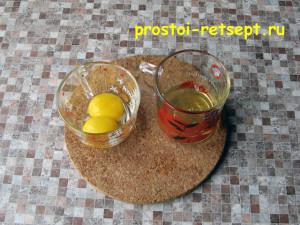 ореховое печенье: отделить белки от желтков