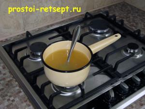 Творожное желе: желатин растопить