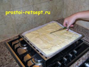 Быстрый пирог: сделать надрезы