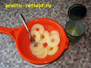 Филе индейки в духовке: ананас извлечь из сиропа