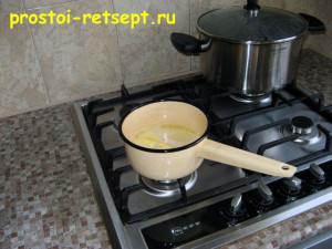 Ачма: растопить сливочное масло