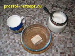 Дрожжевое тесто для пирогов : смешать дрожжи с сахаром